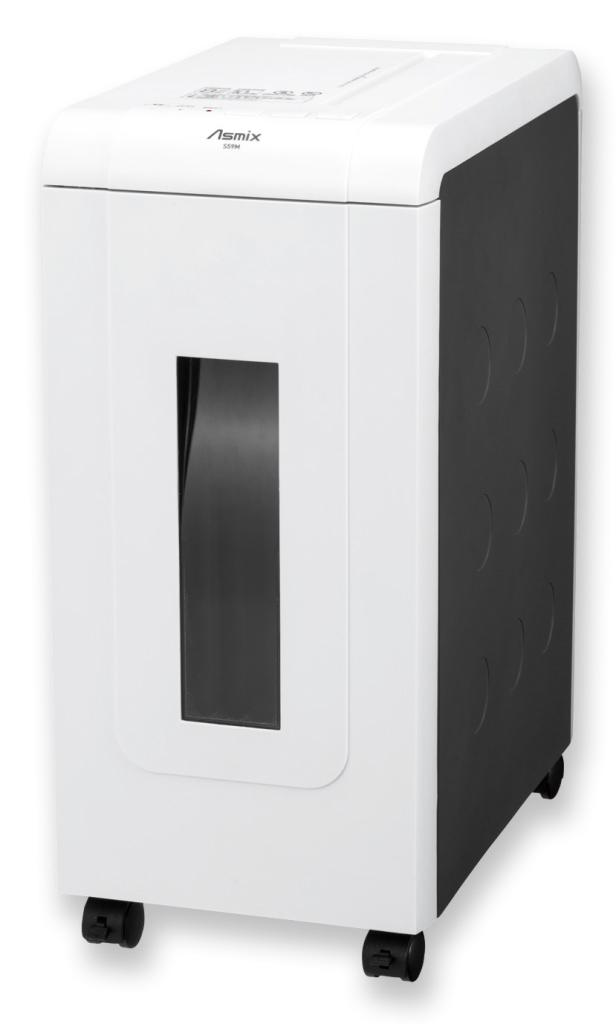【新品/取寄品】マイクロカットシュレッダー。超静音48dB。最大10枚。連続10分。コンパクトなデスクサイド型。 S59M