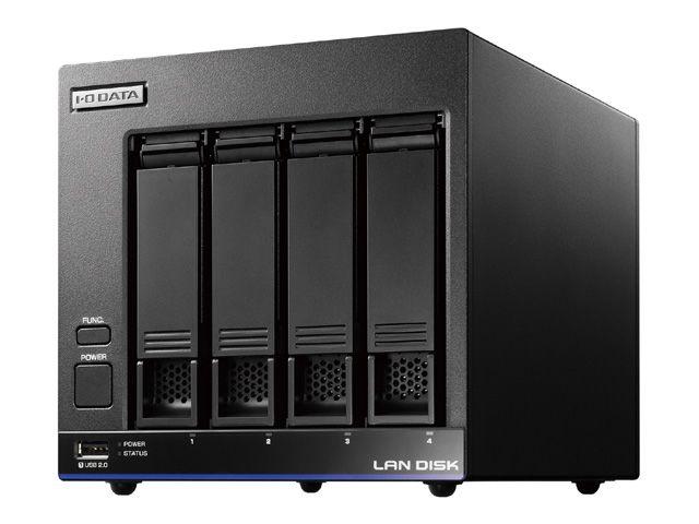 【新品/取寄品/代引不可】高性能CPU&NAS用HDD「WD Red」搭載 4ドライブスタンダードビジネスNAS 8TB HDL4-X8