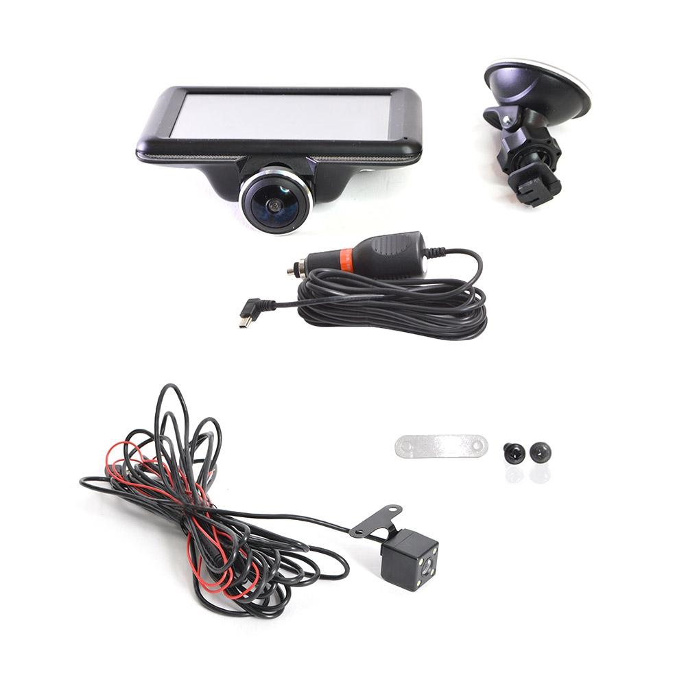 【新品/取寄品/代引不可】5インチ360度ドライブレコーダー&リアカメラ THCARVR36R