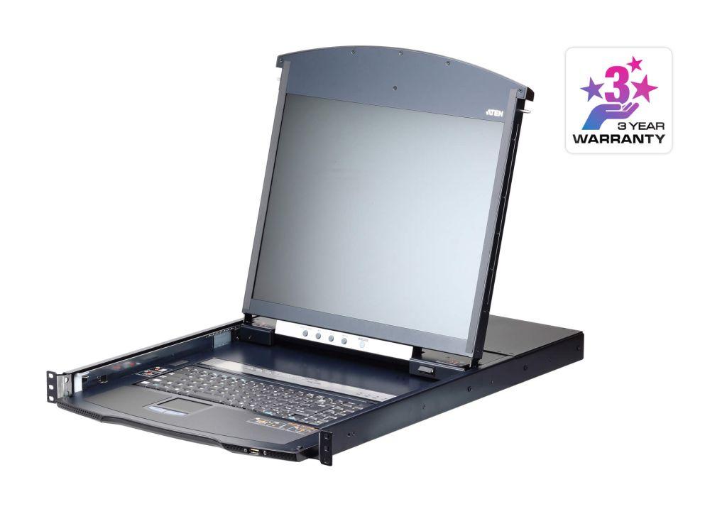 【新品/取寄品/代引不可】19インチ 8ポート カテゴリ5e デュアルスライド LCD IP-KVMドロワー ショートレール KL1108VNJJS/ATEN