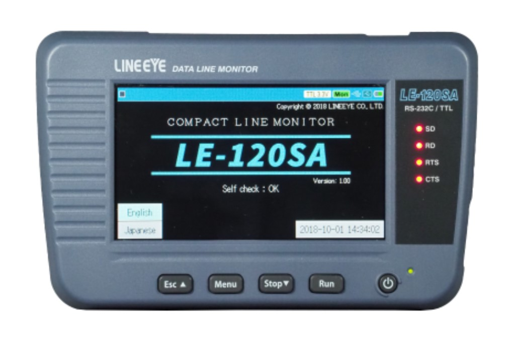 【新品/取寄品/代引不可】データラインモニター RS-232C、TTL (UART)対応 LE-120SA