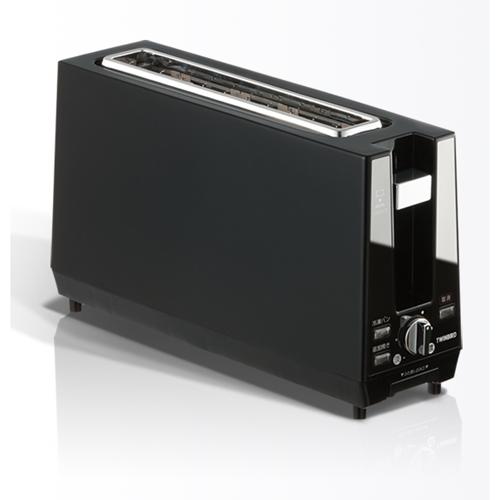 【新品/取寄品】ツインバード ポップアップトースター TS-D424B ブラック