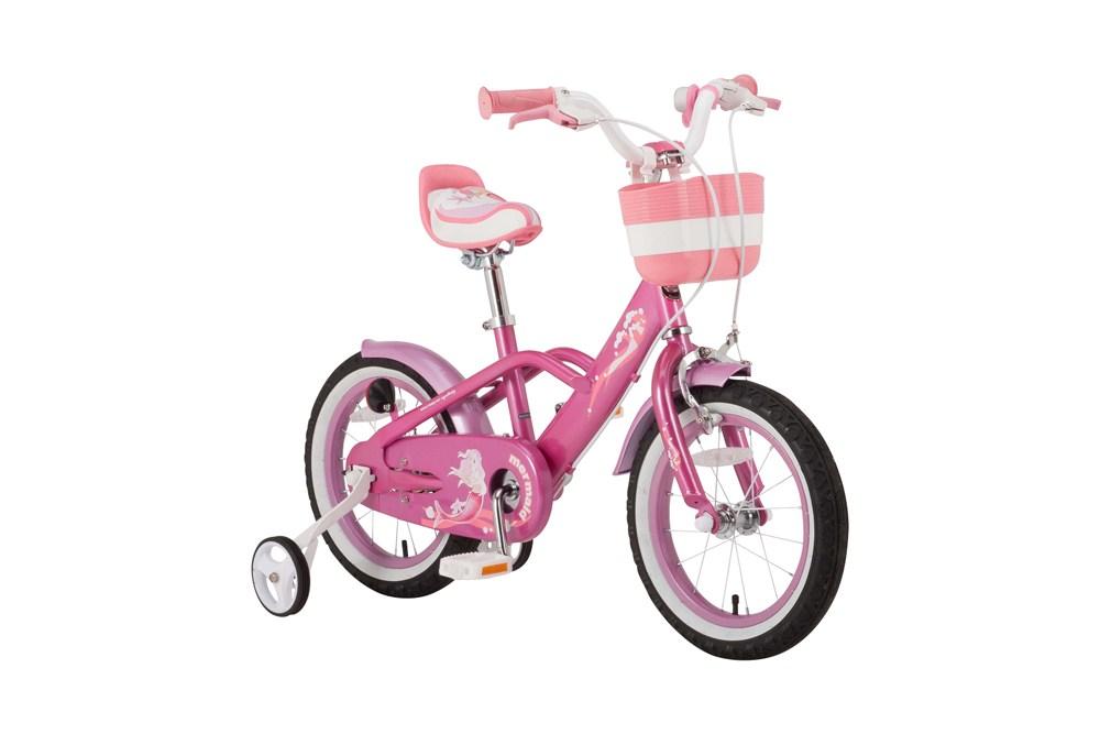 ※5月入荷予定【新品/取寄品/代引不可】ROYALBABY(ロイヤルベビー) 18インチ子供用自転車 RB-WE MERMAID 18 pink ピンク(35995) 補助輪【北海道・沖縄・離島配送不可】