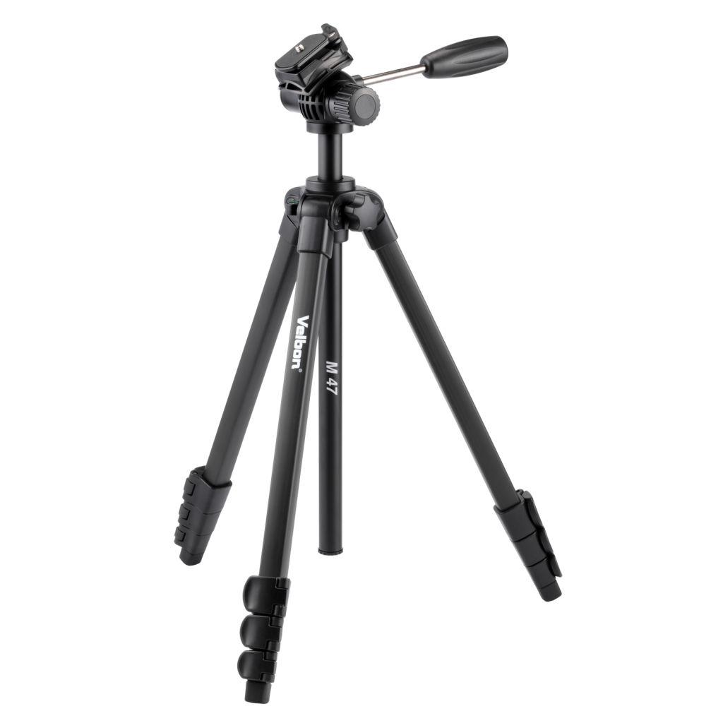 【新品/取寄品/代引不可】M47 レバー式 アルミ4段三脚 フリュード雲台搭載 ビデオ撮影用 クイックシュー対応 M47