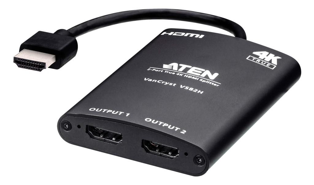 【新品/取寄品/代引不可】2ポート HDMI分配器(4K60p対応、自動ダウンスケーリング機能搭載) VS82H/ATEN