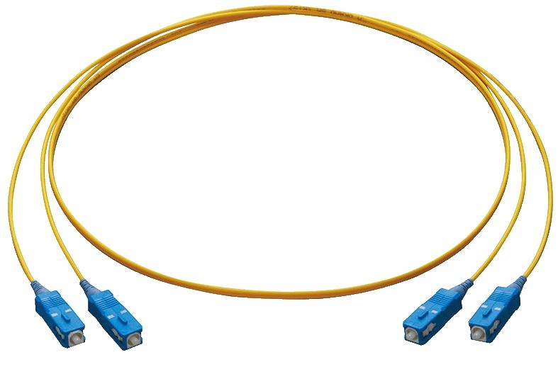 【新品/取寄品/代引不可】PFC-SM9.5-OS1-SC-1 [シングルモード(9.5/125μm) OS1 屋内用光コード 2心 メガネ型 SCコネクター1m] 3952R