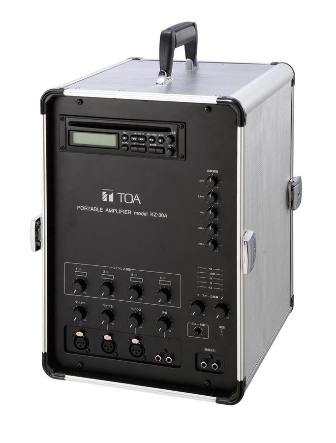 【新品/取寄品/代引不可】移動用PAアンプ 30Wx2ch CD付 KZ-30A