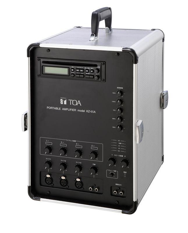【新品/取寄品/代引不可】移動用PAアンプ 65Wx2ch CD付 KZ-65A