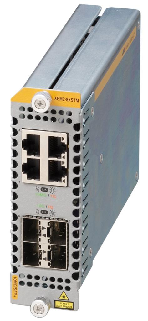 【新品/取寄品/代引不可】AT-XEM2-8XSTm-Z5[1G/2.5G/5G/10GBASE-Tx4、SFP+スロットx4(デリバリースタンダード保守5年付)] 3799RZ5