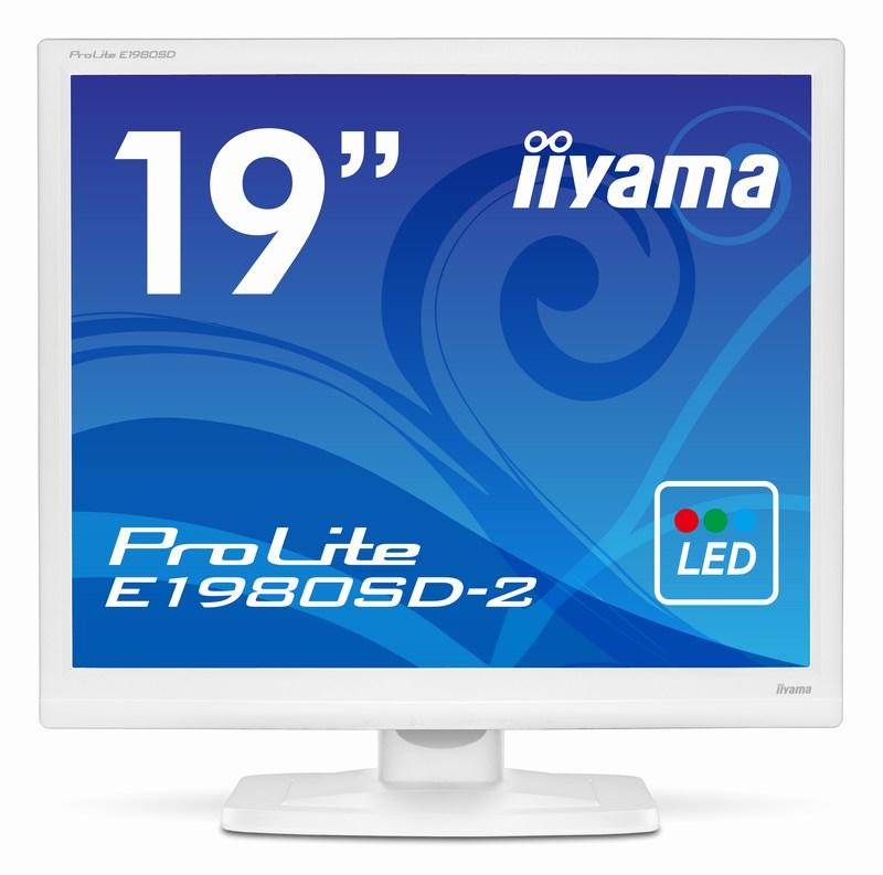 【新品/取寄品/代引不可】19インチスクエアTFTモニタ E1980SD-W2(1280x1024/D-Sub15Pin/HDCP対応DVI/スピーカー/ホワイト) E1980SD-W2