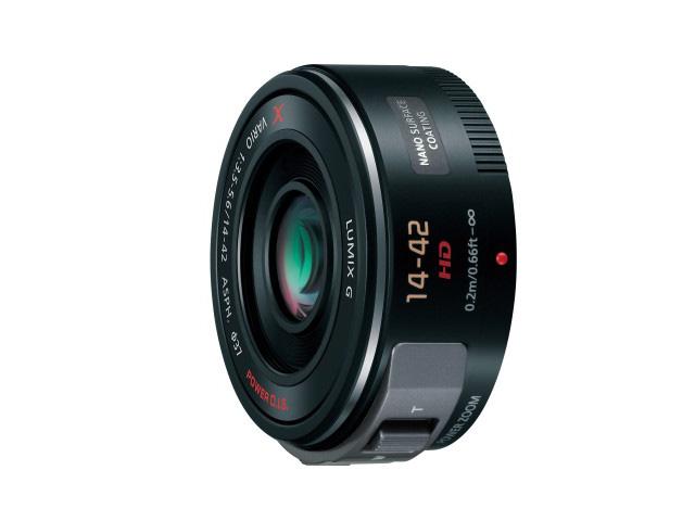 【新品/取寄品】デジタル一眼カメラ用交換レンズ H-PS14042-K ブラック