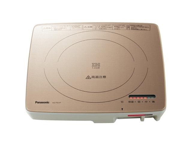 【新品/取寄品】パナソニック 卓上型IH調理器 KZ-PS1P-N シャンパンゴールド