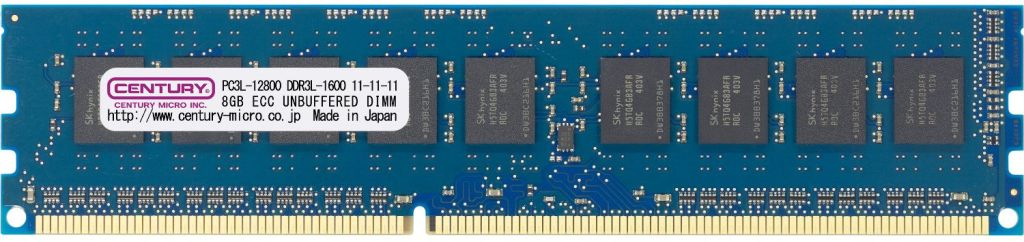 【新品/取寄品/代引不可】WS用低電圧メモリー DDR3L-1600 8GB ECC DIMM PC3L-12800 日本製 1.35v CD8G-D3LUE1600