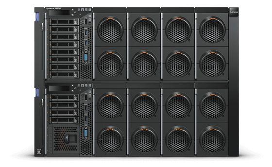 【新品/取寄品/代引不可】System x3950 X6/XeonE7-8860v4(18) 2.20GHz-1866MHzx4/PC4-19200 128.0GB(16x8)(Chipkill)/RAID-M5210/POW(900Wx4)/OSなし