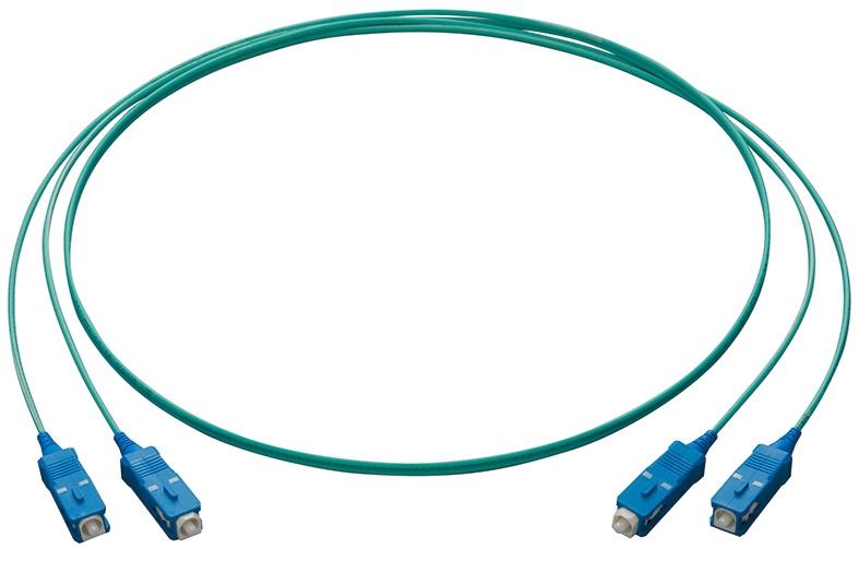 【新品/取寄品/代引不可】PFC-GI50-OM3-SC-5 [マルチモード(50/125μm) OM3 屋内用光コード 2心 メガネ型 SCコネクター5m] 3985R
