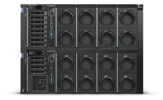 【新品/取寄品/代引不可】System x3950 X6/XeonE7-8870v4(20) 2.10GHz-1866MHzx4/PC4-19200 128.0GB(16x8)(Chipkill)/RAID-M5210/POW(900Wx4)/OSなし