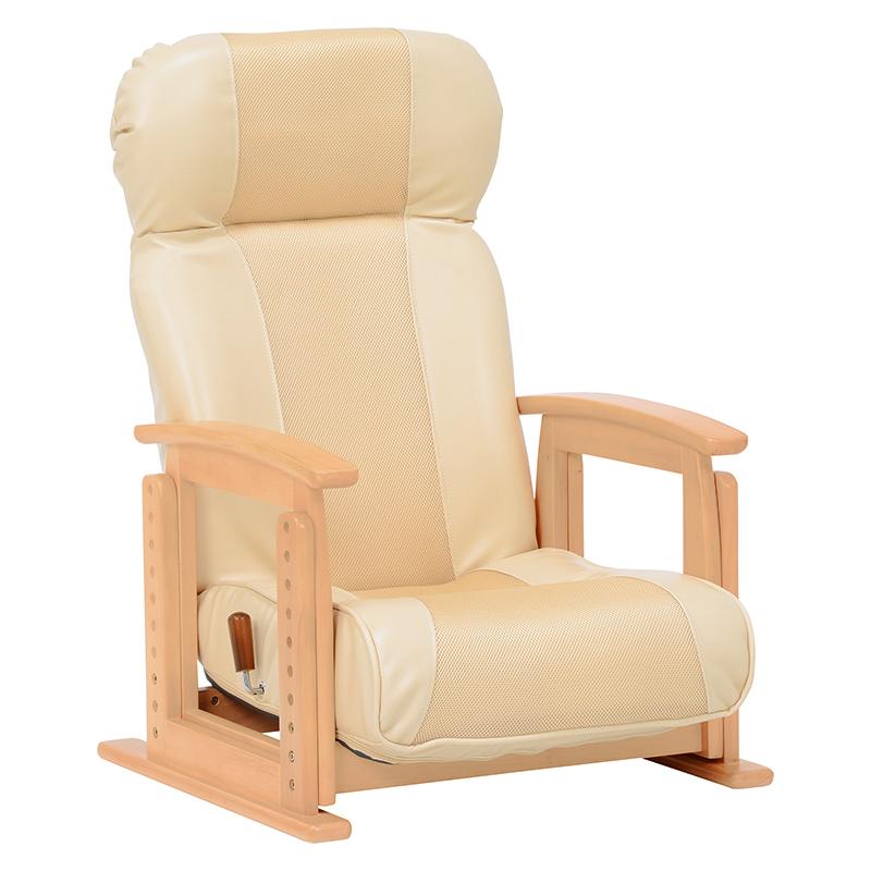 【新品/取寄品/代引不可】萩原 高座椅子(ベージュ) LZ-4728BE【北海道・沖縄・離島配送不可】