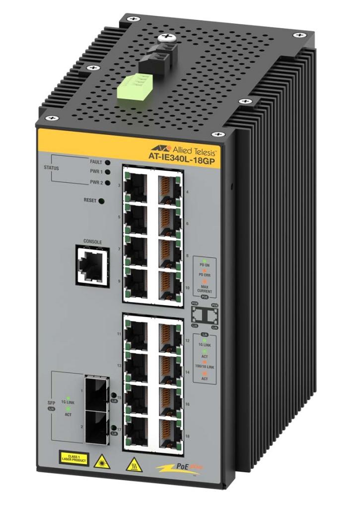 【新品/取寄品/代引不可】AT-IE340-20GP-Z5[10/100/1000BASE-Tx16(PoE-OUT)、SFPスロットx4(デリバリースタンダード保守5年付)] 3876RZ5