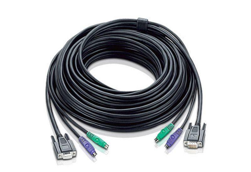 【新品/取寄品/代引不可】KVM用ケーブル20m(HD15M/MD6M/MD6M-HD15F/MD6F/MD6F) 2L-1020P/ATEN