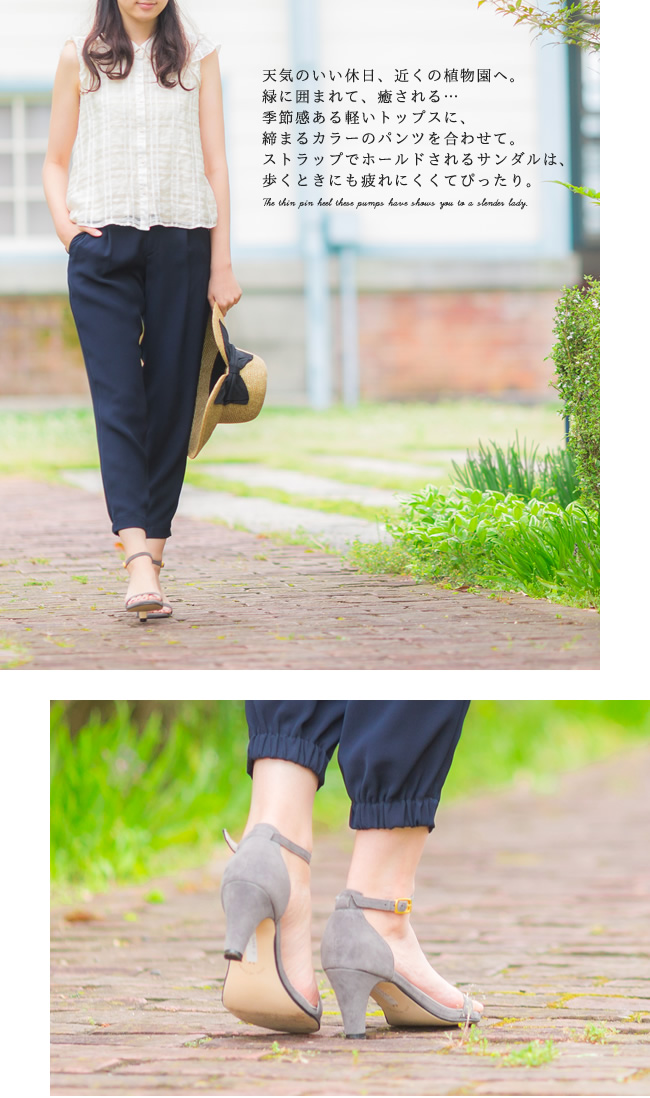 One strap Sandals / ladies / walkable / dresses / big size / ankle strap / spring / summer / spring 2015 summer new / outlet shoes cute Japan