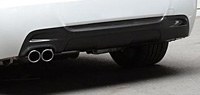 3D Design リアディフューザー BMW 3シリーズ 320i M-Sport E92用 シングル (3108-19241)【エアロ】3Dデザイン Rear Diffuser【通常ポイント10倍!】