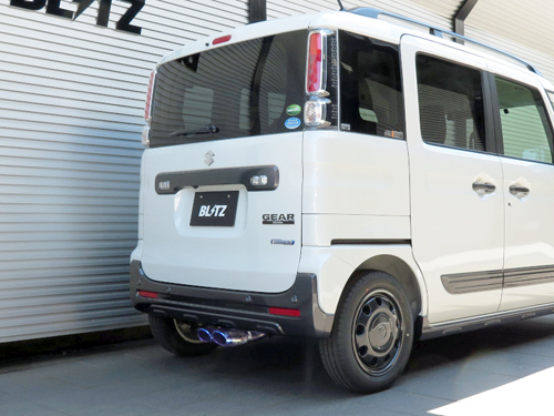 BLITZ NUR-SPEC VS スズキ スペーシアギア MK53S用 (63551)【マフラー】【自動車パーツ】ブリッツ ニュルスペック ブイエス【通常ポイント10倍!】