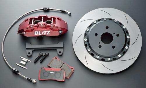 BLITZ BIG CALIPER KIT II トヨタ ヴォクシー ハイブリッド ZWR80G/ZWR80W用 4POT フロントセット(86103)【ブレーキキャリパー】ブリッツ ビッグキャリパーキット2 4ポット Front Set