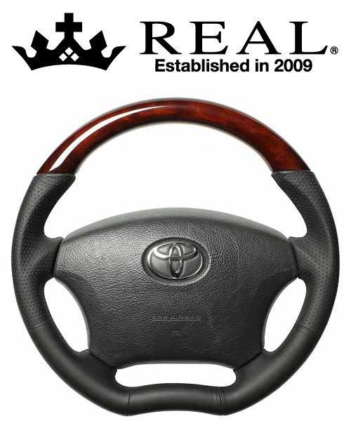 【クーポン利用で最大1200円OFF ACV30/ACV35用】REAL STEERING オリジナルシリーズ トヨタ カムリ 後期 トヨタ STEERING ACV30/ACV35用 カラー:ブラウンウッド (H200-C-BRW-BK)【ハンドル】レアル ステアリング, バイクパーツのBig-One:9c416906 --- officewill.xsrv.jp