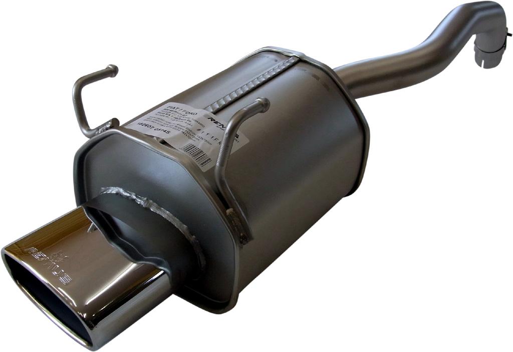 REMUS レムス SPORTS LABEL フィアット 500 1.2 用 片側楕円シングル(182607 0514S)【eマーク適合品】【通常ポイント10倍!】