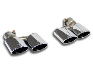 スーパースプリント ベンツ W463 AMG G55 V8 コンプレッサー '05-'12用 リアマフラー 左右楕円ダブル 120×80mm 849307 849337 eマーク適合無 マフラー Supersprint ハイパフォーマンスエキゾーストシステ