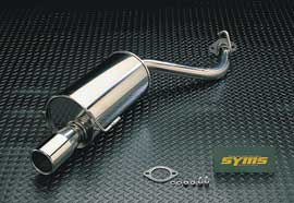 シムスレーシング リヤマフラー スバル レガシィツーリングワゴン GT30 BHE アプライドD型用 品番Y081066125【マフラー】Syms Racing Rear Muffler【通常ポイント10倍!】