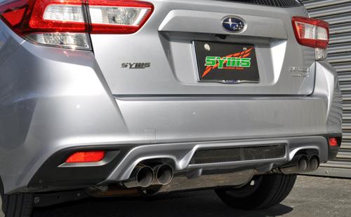 シムスレーシング リヤマフラー + カラードガーニッシュセット スバル インプレッサスポーツ GT2/GT3/GT6/GT7用 クリスタルホワイトパール(Y0800GT001/Y3000GTK1X)【マフラー】【自動車パーツ】Syms Racing Rear Muffler + Muffler Garnish Set