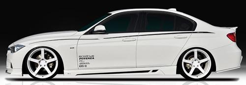 ROWEN PREMIUM Edition サイドステップ(FRP) 素地 BMW 3シリーズ Mスポーツ F30/F31用 (1B002J00)【エアロ】ロェン プレミアムエディション【車法人のみ送料無料】【通常ポイント10倍!】