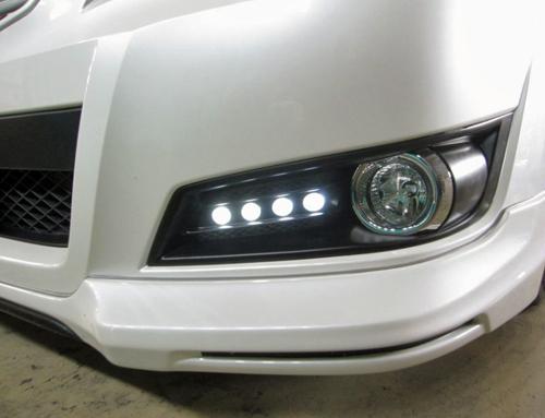 ROWEN PREMIUM Edition フォグカバー(FRP) 白LED スバル レガシィ ツーリングワゴン A/B/C型 BR9用 (1S001I02)【エアロ】ロェン プレミアムエディション【通常ポイント10倍!】