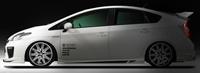 ROWEN ECO-SPO Edition RR スタイルキット タイプ2(FRP) 塗装済み トヨタ プリウス MC後 ZVW30用 (1T008X02#)Fスポイラー(タイプ2)/Sステップ2/Rスポイラー2のキット【エアロ】ロェン エコスポエディション【通常ポイント10倍!】