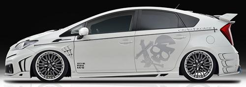 ROWEN CROSS BLAZE サイドステップ ver.2(FRP) 素地 トヨタ プリウス 後期 ZVW30用 (1T008J00)【エアロ】ロェン クロスブレイズ【通常ポイント10倍!】