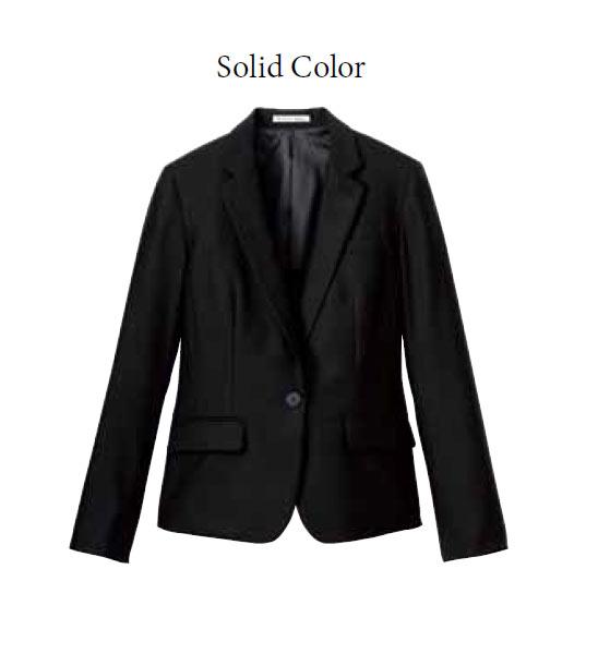 BONMAX レディスストレッチジャケット(Solid Color)【サイズ:5号~17号】ウール50% ポリエステル50%