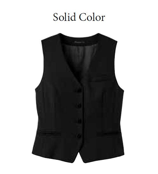 レディスベスト(Solid Color)【サイズ:5号~17号】毛50% ポリエステル50%