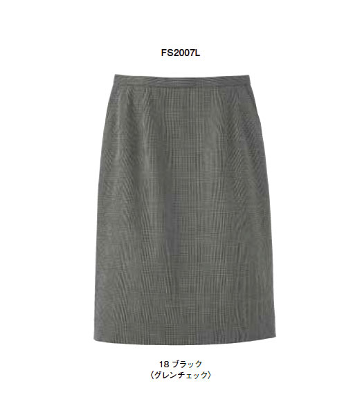 レディスストレッチスカート(グレンチェック)【サイズ:5号~17号】毛80% ポリエステル50%