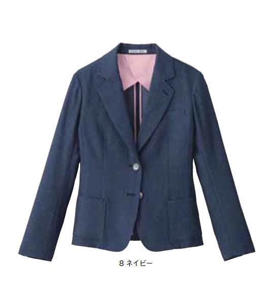 レディスカジュアルジャケット【サイズ:S~3L】ポリエステル 100%