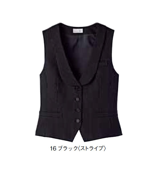 BONMAX レディスショールカラーベスト【サイズ:5号~17号】ポリエステル98% レイヨン2%
