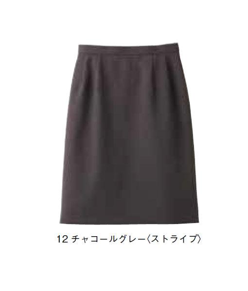 BONMAX セミタイトスカート(ストライプ)【サイズ:5号~17号】ポリエステル98%レイヨン2%