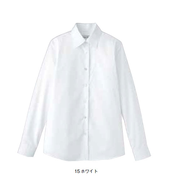 BONMAX レディスストレッチ長袖ブラウス【5号~17号】/ブロード/フォーマル/形態安定
