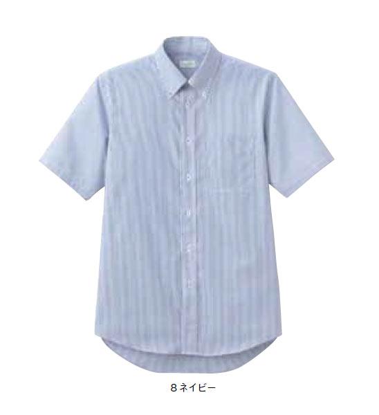 BONMAX メンズ吸汗速乾半袖シャツ【S~4L】ストライプ/フォーマル