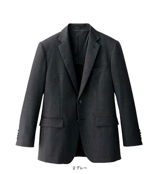 BONMAX メンズストレッチジャケット(ストライプ)【サイズ:S~4L】毛50% ポリエステル50%