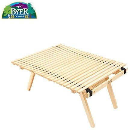 BYER OF MAINE(バイヤーオブメイン) バレーローロールテーブル キャンプに、ピクニックに!コンパクトに収納、持ち運び可能!