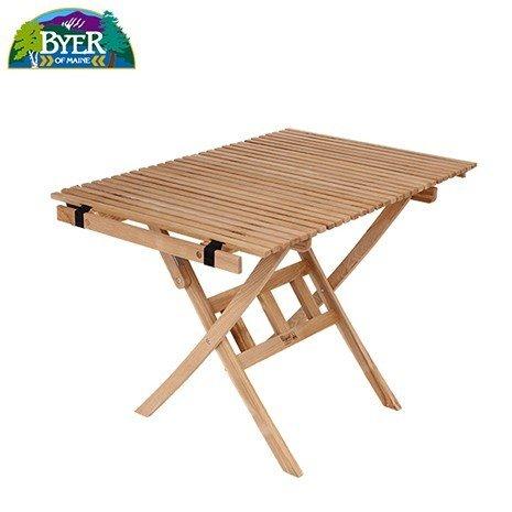 BYER OF MAINE(バイヤーオブメイン)ロールトップテーブル キャンプに、ピクニックに!コンパクトに収納、持ち運び可能!