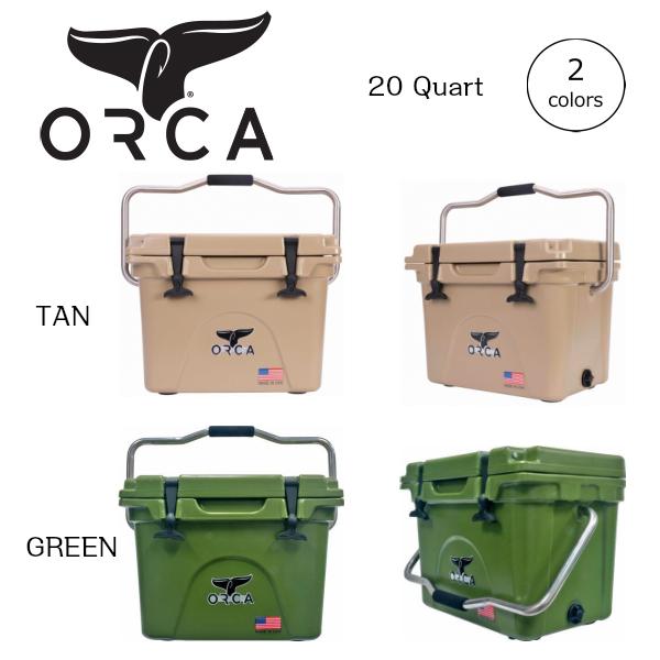 ORCA オルカ クーラーボックス 20 Quart キャンプ、ピクニック、釣りなどアウトドアで大活躍
