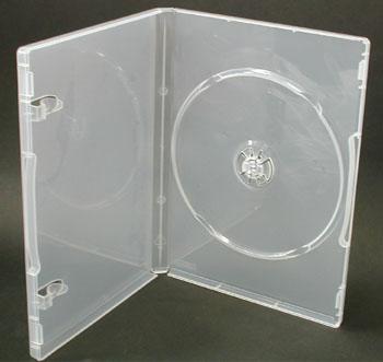 日本製 15mm厚に1枚収納 DVDケース ポップマンボウ スーパークリア100個