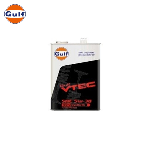 Gulf Vテック VTEC エンジンオイル 5W-30 全合成油(PAO + Bi Ester) 4L×3缶